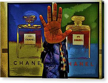 About Love. Chanel No. 5 Canvas Print by Andy Za