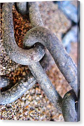 about LOVE. Iron chain.  Canvas Print by Andy Za