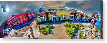 Above Cannery Row Monterey Ca Canvas Print by Blake Richards