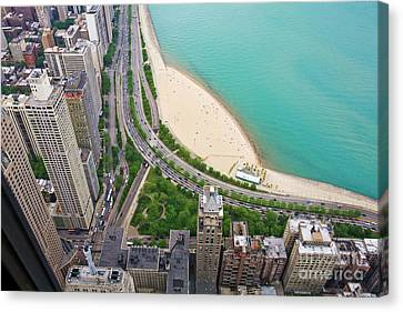 Above Chicago Canvas Print by Madeline Ellis
