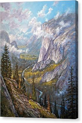 Above El Capitan Canvas Print by Donald Neff