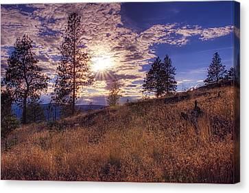 Above Lake Okanagan Canvas Print by Paul W Sharpe Aka Wizard of Wonders