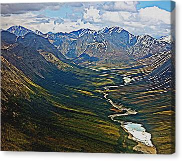 Canvas Print featuring the painting Above The Arctic Circle by John Haldane