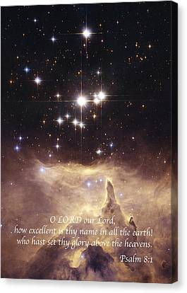 Above The Heavens Canvas Print by Michael Peychich