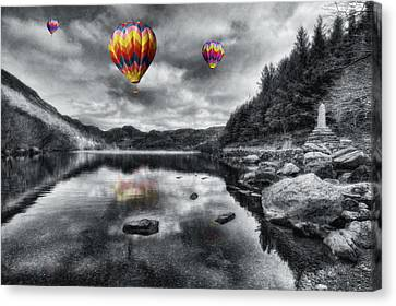 Park Scene Canvas Print - Above The Lake by Ian Mitchell