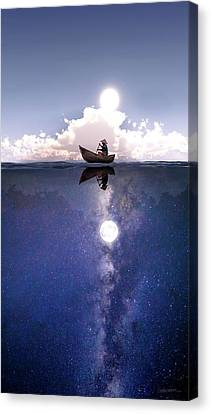 Above The Night Canvas Print by Cynthia Decker