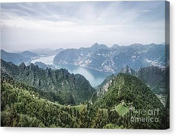 Above The Silver Lake Canvas Print