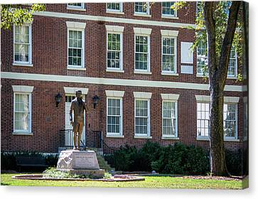 Canvas Print featuring the photograph Abraham Baldwin Statue At Uga by Parker Cunningham