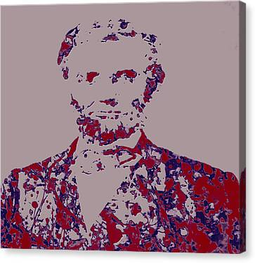Democrats Canvas Print - Abraham Lincoln 4c by Brian Reaves