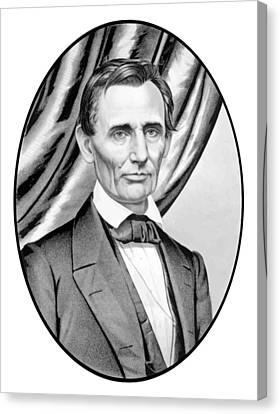 Abraham Lincoln Circa 1860 Canvas Print by War Is Hell Store