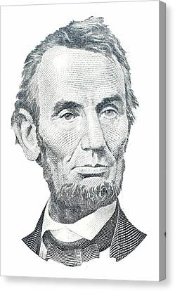 Abraham Lincoln Canvas Print by David Houston