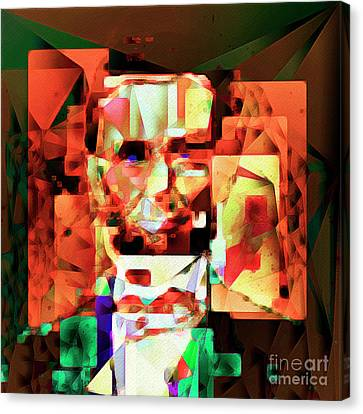 Canvas Print featuring the photograph Abraham Lincoln In Abstract Cubism 20170327 Square by Wingsdomain Art and Photography