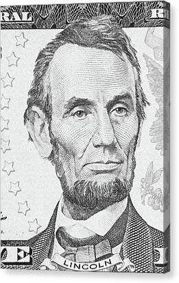 Canvas Print featuring the photograph Abraham Lincoln by Les Cunliffe