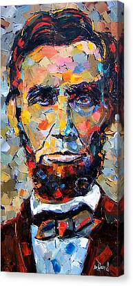Abraham Lincoln Portrait Canvas Print by Debra Hurd