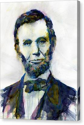 Abraham Lincoln Portrait Study 2 Canvas Print
