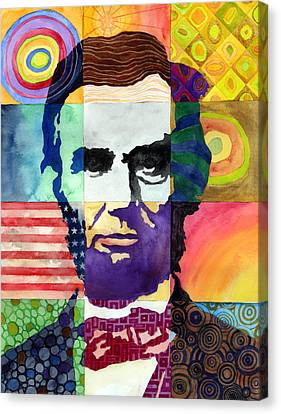 Abraham Lincoln Portrait Study Canvas Print