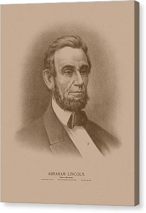 Abraham Lincoln - Savior Of His Country Canvas Print by War Is Hell Store