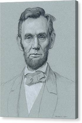 Lincoln Drawings Canvas Print - Abraham Lincoln by Swann Smith