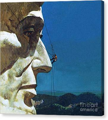 Abraham Lincoln's Nose On The Mount Rushmore National Memorial  Canvas Print by English School