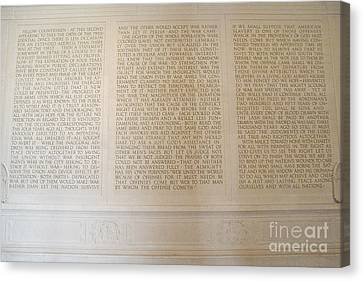 Abraham Lincoln's Second Inaugural Address Canvas Print by Tom Doud