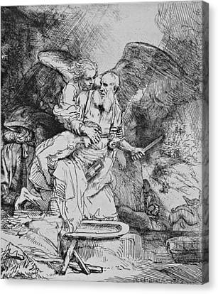 Abraham's Sacrifice Canvas Print
