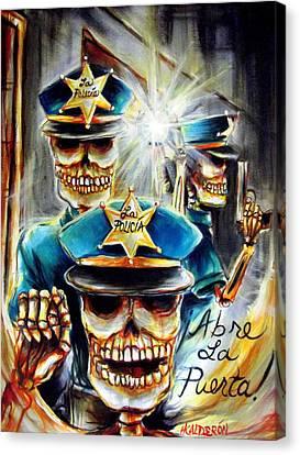 Abre La Puerta Canvas Print by Heather Calderon