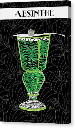Absinthe Cocktail Art Deco Swing Canvas Print