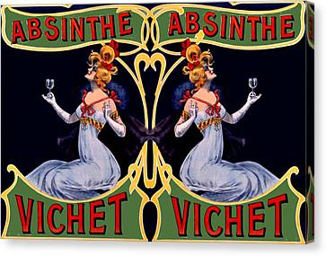 Absinthe Lady Ad Canvas Print by Marianne Dow