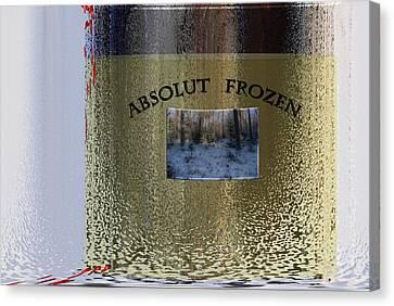 Absolut Frozen Canvas Print by Ove Rosen