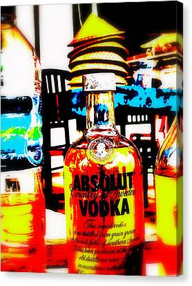 Absolut Gasoline Refills For Bali Bikes Canvas Print by Funkpix Photo Hunter