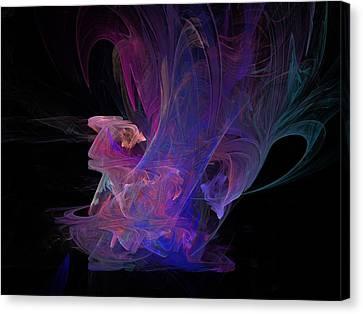 Abstact Pink Swan Canvas Print