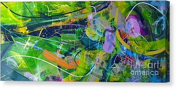 Canvas Print featuring the painting Abstract # 12015 by Robert Anderson