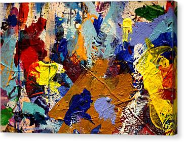 Abstract Expressionism Canvas Print - Abstract 10 Uncropped by John  Nolan