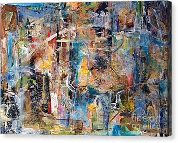 Canvas Print featuring the painting Abstract #101514 by Robert Anderson