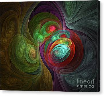 Abstract 109 Canvas Print by Olga Hamilton
