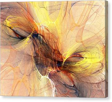 Expressionism Digital Art Canvas Print - Abstract 111110a by David Lane