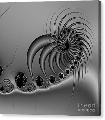 Abstract 118 Bw Canvas Print by Rolf Bertram