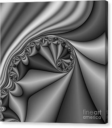 Abstract 168 Bw Canvas Print by Rolf Bertram