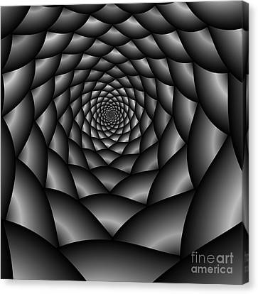 Abstract 219 Bw Canvas Print by Rolf Bertram