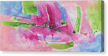 Canvas Print featuring the painting Abstract #219 by Robert Anderson