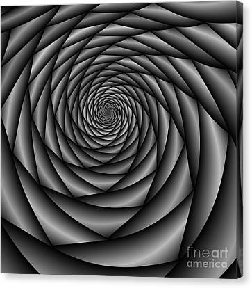 Abstract 220 Bw Canvas Print by Rolf Bertram