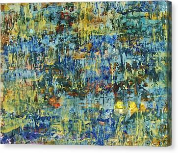 Canvas Print featuring the painting Abstract #329 by Robert Anderson