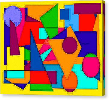 Canvas Print featuring the digital art Abstract 3c by Timothy Bulone