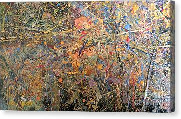 Canvas Print featuring the painting Abstract #416 by Robert Anderson