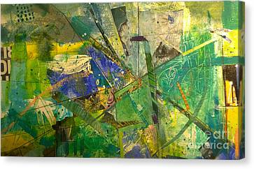 Canvas Print featuring the painting Abstract #41715 by Robert Anderson