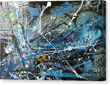 Canvas Print featuring the painting Abstract #419 by Robert Anderson