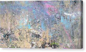 Canvas Print featuring the painting Abstract #42115a by Robert Anderson
