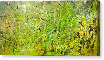Canvas Print featuring the painting Abstract #42515b Or Marsh Life by Robert Anderson