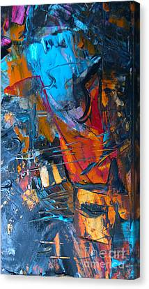 Canvas Print featuring the painting Abstract #42715b by Robert Anderson