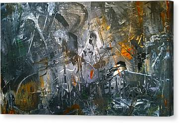 Canvas Print featuring the painting Abstract #42815 by Robert Anderson
